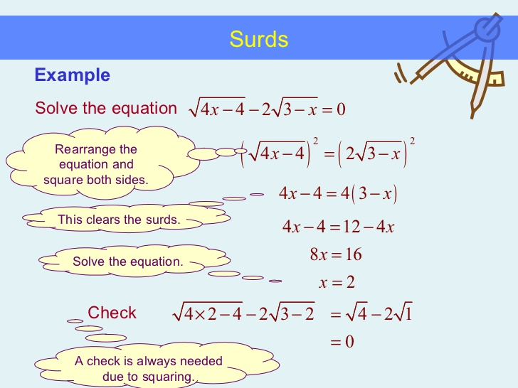 Rationalization Of Surds Kullabs