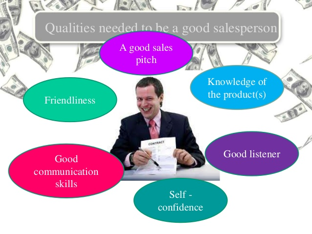 personal selling types and qualities of salesperson