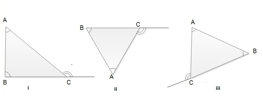 Notes on triangle grade 9 compulsory maths geometry - The exterior angle of a triangle is equal to ...