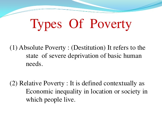 Types of proverty