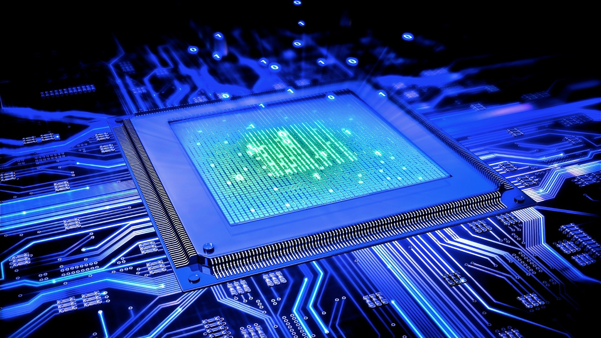 Graphic image of Microprocessor